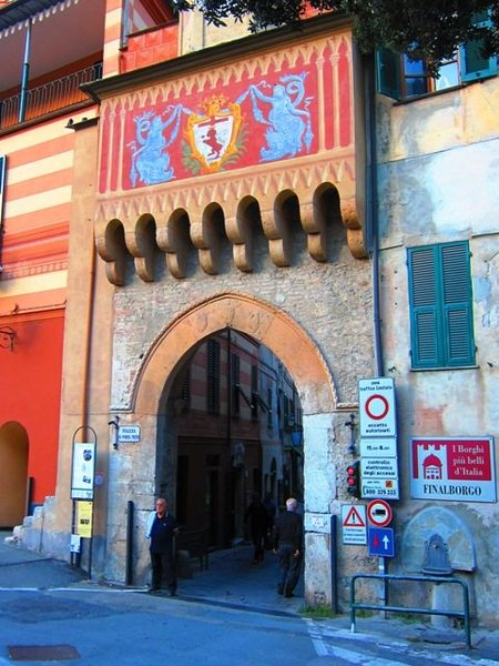Gateway to the walled city of Finalborgo