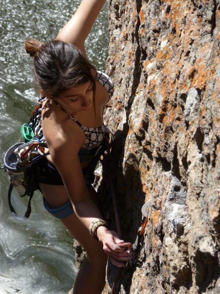 Rock Climbing Photo: Jackie Trejo climbing Mummy 5.10b on Little Cheops...