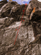 Rock Climbing Photo: Beta photo of Hibernus in January. The day it was ...