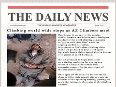 Rock Climbing Photo: On news stands now