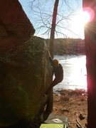 Rock Climbing Photo: Soaking up the sun on The Arrow on a cold February...