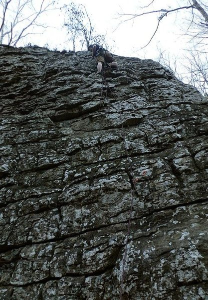 Rock Climbing Photo: Cleaning at Fern