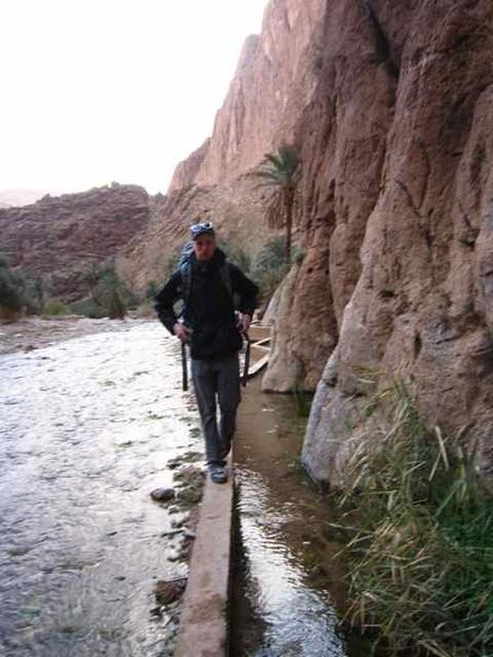 Rock Climbing Photo: Getting to the Plage Mansour Sector in Todra Gorge...