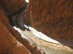 Rock Climbing Photo: Waving to the tourists
