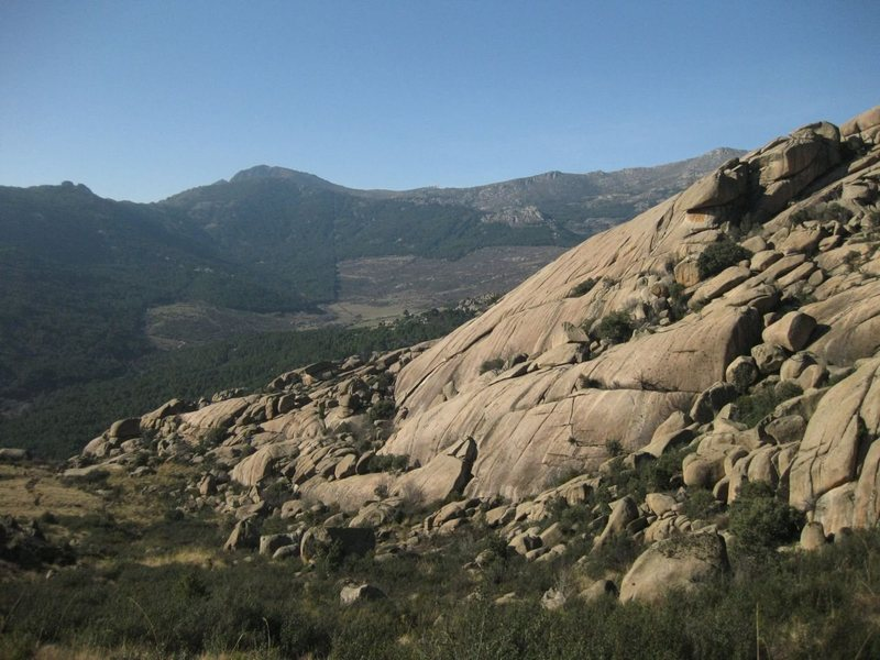 overview of Cancho De Los Brezos from above