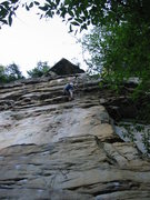 Rock Climbing Photo: Making my way over one of the small overhangs on &...