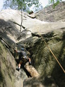 Rock Climbing Photo: Easily Flaky 5.6