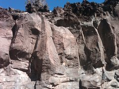 Rock Climbing Photo: Short Top Rope Area.  If you look hard, you can se...