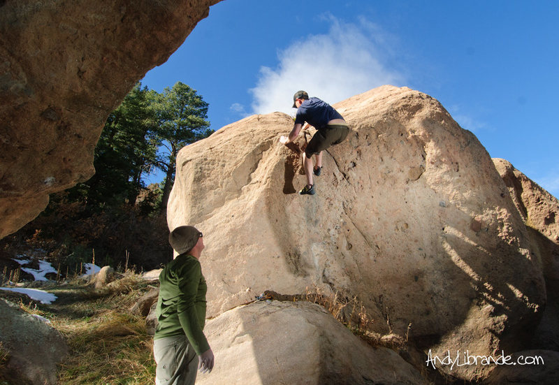 Rock Climbing Photo: Another angle of this problem.