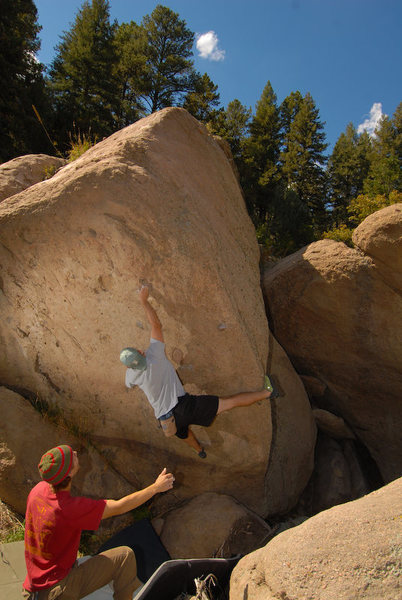 Rock Climbing Photo: Mono-opoly is on the backside of this problem down...