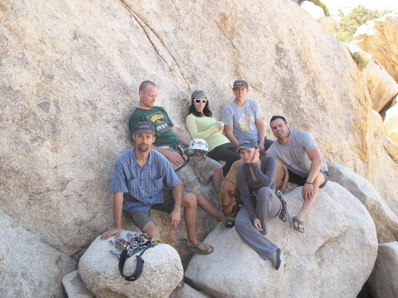 A fun time camping and climbing in J-tree with our Vegas crew in October 2011.<br> <br> [Jonny, Anne, Jason, me, Jacob, Patrick, and pup]