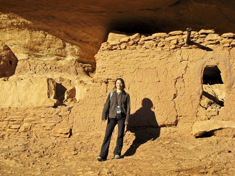 Remote Anasazi cliff dwelling.<br> <br> Oct. 2011