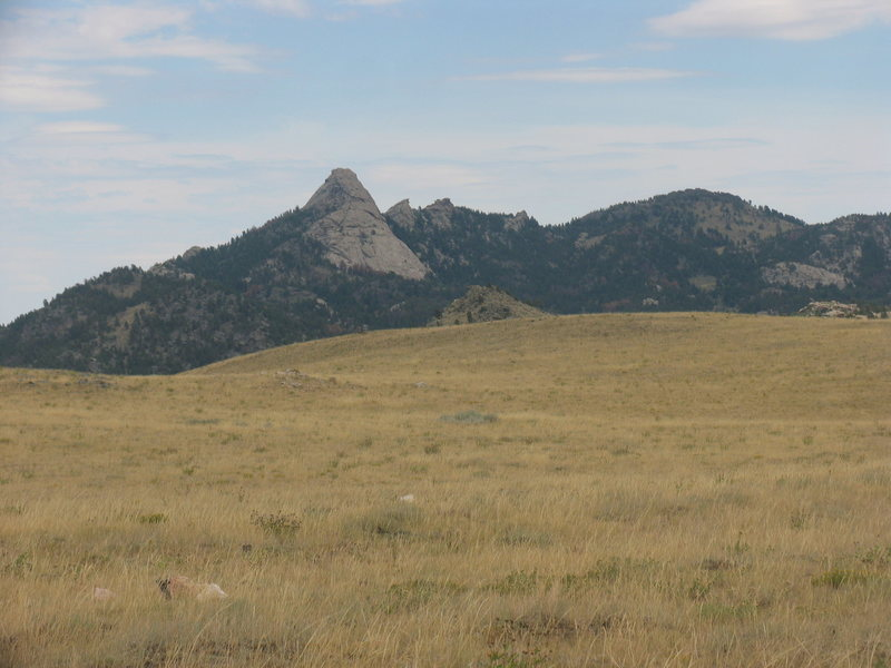 Rock Climbing Photo: Sugar Loaf from the Sugar Loaf Turnoff