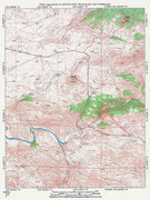 Rock Climbing Photo: Map of Elmers Rock, Sugar Loaf and The Laramie Riv...