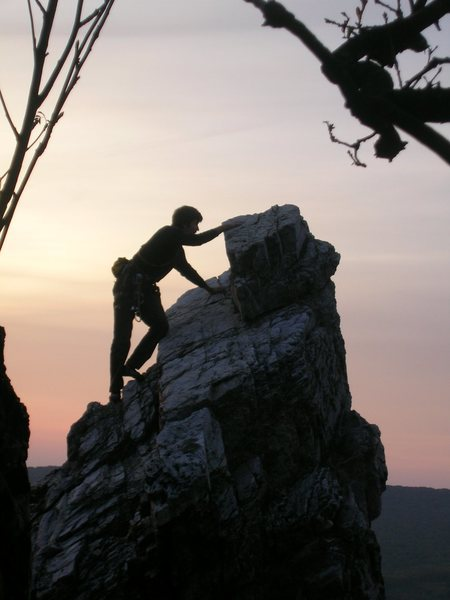 Rock Climbing Photo: Little Limestone Tower in Slovakia.