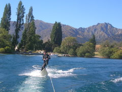 Rock Climbing Photo: Scurfing Lake Wanaka!