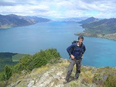 Rock Climbing Photo: Lake Hawea, S. Island NZ.