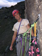 Top belay on Tune in, Turn Off, Drop Out in Wanaka, New Zealand.