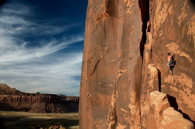 Rock Climbing Photo: Tale of Two Sheep, Way Rambo wall. Photo credit- D...