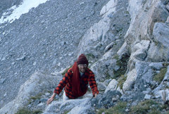 Rock Climbing Photo: Approaching the route, August 1980, Sacagawea, W F...