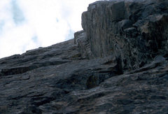 Rock Climbing Photo: Looking up the dihedral, August 1980, Sacagawea, W...