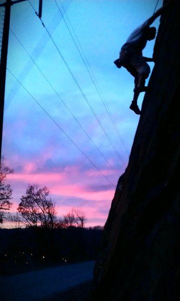 Rock Climbing Photo: sunset!