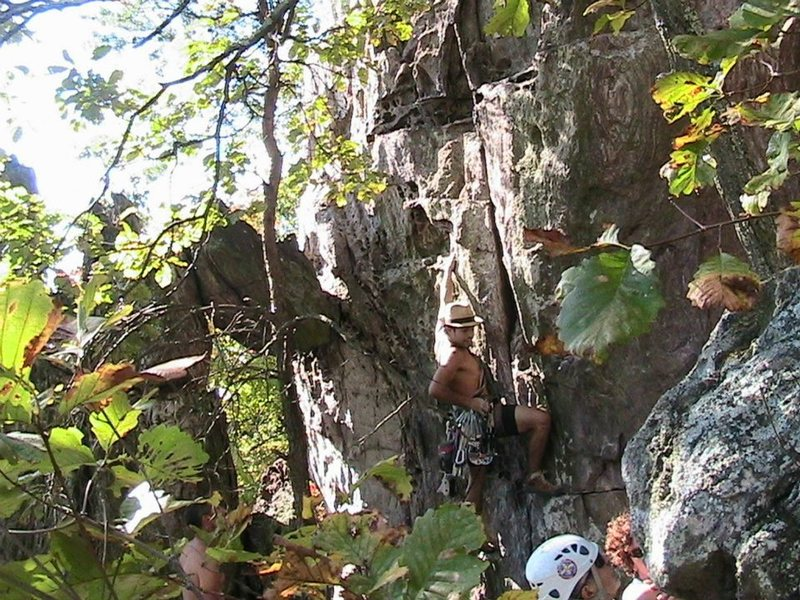 Trundlasaurus Wall<br> <br> No Experience Necessary (5.6) Trad<br> <br> Crowders Mountain State Park, North Carolina