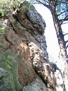 Rock Climbing Photo: Plane Above Your Head Wall  Unknown(Left of Plane)...