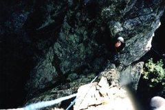 Rock Climbing Photo: Scott nearing the top of the Fire Hydrant, Sandia ...