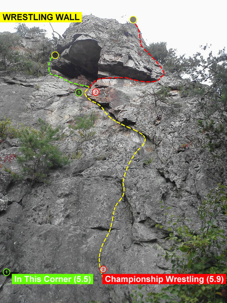 Rock Climbing Photo: Wrestling Wall  In This Corner (5.5) Trad  Champio...
