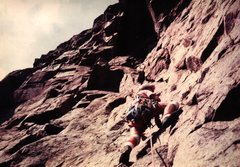 Rock Climbing Photo: Wizard of Odd, P2, 2nd ascent, 1980.