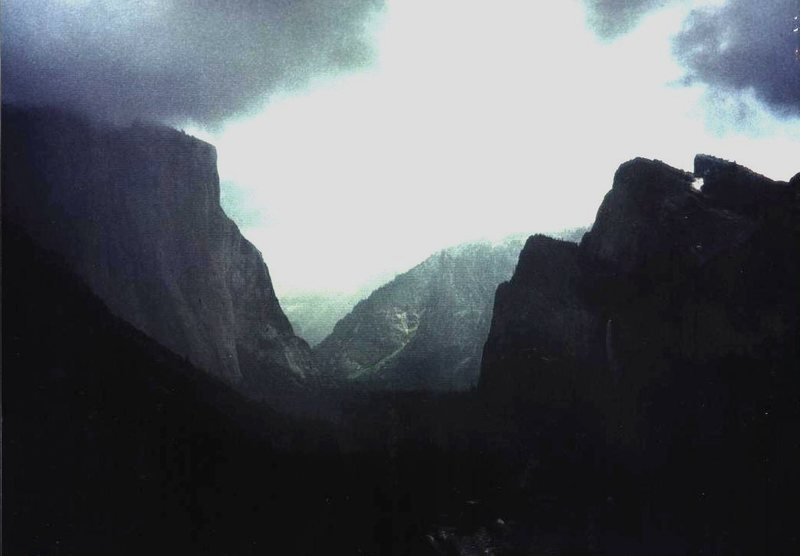 Rock Climbing Photo: My Wawona Tunnel pic, spring 1977