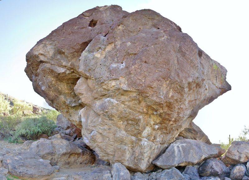 Son of Broken Rubber Boulder, north side.