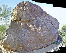 Rock Climbing Photo: Other Upper Boulder, south side. This is a panoram...