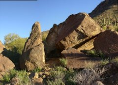 Rock Climbing Photo: Mono Face and the roof boulder. These are adjacent...