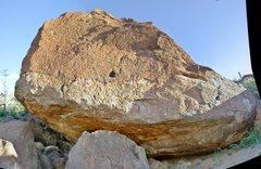Rock Climbing Photo: Way Upper Boulder, north face. This panoramic imag...