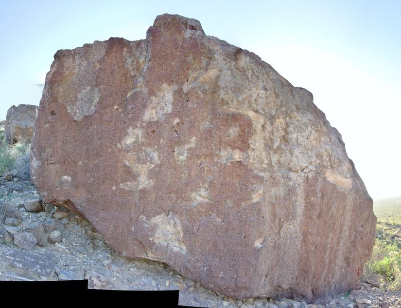 Split Boulder, east face.