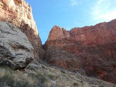 Rock Climbing Photo: Red Wall Notch