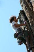 Rock Climbing Photo: Red Wall   Target Practice (5.8)  Crowders Mountai...