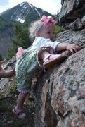 "Rock Climbing Photo: Ava trying to ""climb like daddy"" out Tra..."