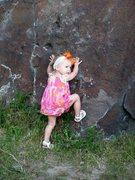 Rock Climbing Photo: Ava posing at Dierkes Lake   Twin Falls, Idaho