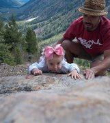 Rock Climbing Photo: Slabbin' at Trail Creek  Sun Valley, Idaho