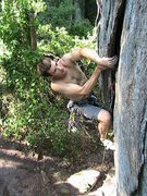 Rock Climbing Photo: Middle Finger Backside  Ian Balman leads Pleasant ...