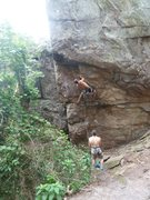 Rock Climbing Photo: Middle Finger Backside  Pick-A-Dilly Variation (5....