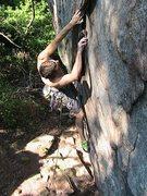 Rock Climbing Photo: Middle Finger Backside   Ian Balman leads  Pleasan...