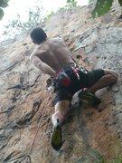 Rock Climbing Photo: Red Wall  Desperately Seeking Juggage(5.11)  Crowd...