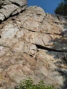 Rock Climbing Photo: Practice Wall  The Wall (5.10a) Trad  Crowders Mou...