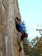 Rock Climbing Photo: Red Wall  Fashion(5.12b) sport  Crowders Mountain ...