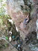 Rock Climbing Photo: Trundlasaurus Wall  Lincoln Smith leads  Idiot Sav...