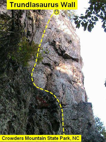 Rock Climbing Photo: Trundlasaurus Wall  Bushman (5.11) Sport (Cliff Le...